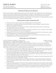 Example Of Recruiter Resume Resume Example 24 Recruiter Sample Corporate It Sales Human Reso Sevte 22