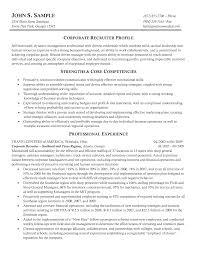 College Recruiter Sample Resume Resume Example 24 Recruiter Sample Corporate It Sales Human Reso Sevte 8