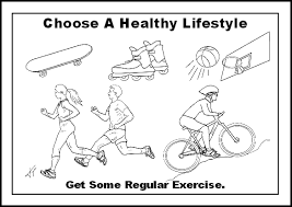Small Picture Healthy Lifestyle Fitness Food Fruits Excersice Coloring Pages