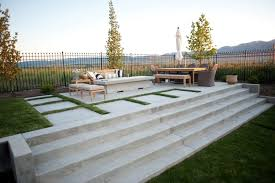 Modern Concrete Patio Designs Stairs Fire Pit Agtrac Enterprises Logan Inside Impressive Design