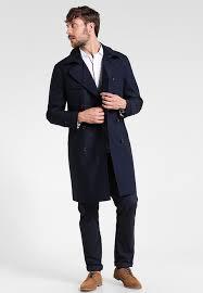 banana republic long trenchcoat preppy navy mens clothing wk05866