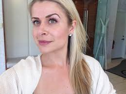 eyebrow microblading blonde hair. gillian_eyebrow_selfie eyebrow microblading blonde hair