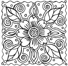 Small Picture Flower Coloring Pages Simple Adult Flower Coloring Pages