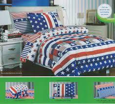 Amazon Children s Twin Size Patriotic Flag Print Bedding