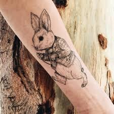 лист переводных татуировок заяц купить в интернет магазине