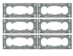 Blank Dollar Bill Flashcards Template By Spokes And Speech Tpt