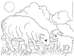 Small Picture Sheep and Lamb Free Farm Animals Coloring Pages to Print and