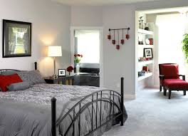 impressive designs red black. Extraordinary Look Of Grey And White Bedroom Ideas : Impressive Design Using Rounded Desk Designs Red Black N