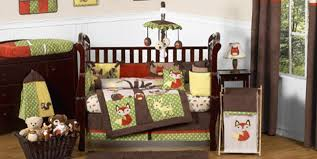 forest animals crib bedding
