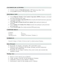 Resume Activities Examples Hobbies To Put On Resume Interest And For