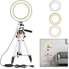 Ring Light Tripod For Iphone Us 22 41 41 Off 7 9 Inch Dimmable Selfie Led Ring Light With Tripod Stand Phone Holder Bracket For Iphone X 8 7 6 Plus Smartphone Photography On
