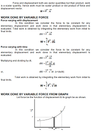 Cbse Class Xi Physics Work Energy And Power Concepts For