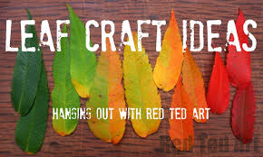 leaf craft ideas for autumn youtube