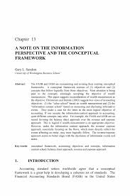 essay framework a note on the information perspective and the  a note on the information perspective and the conceptual framework essays in accounting theory in honour