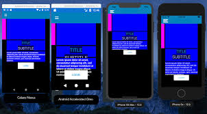 Xamarin Android Layout Design Is It Possible To Design Adaptive Ui With Grid Layout