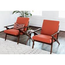 mid century modern chairs. Wonderful Chairs Adalyn MidCentury Modern Lounge Chair In Red Orange  Room Inside Mid Century Chairs I