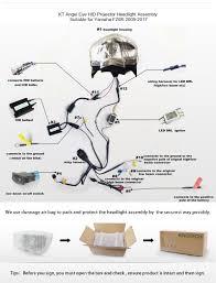 for yamaha fz6r led angel eye hid projector headlight assembly user manual for headlight assembly for yamaha fz6r 2009 2010 2011 2012 2013 2014 2015 2016 installation video