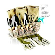 8 piece gardening tools with storage
