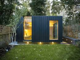 outdoor garden office. charred cedar clads this garden yoga studio and office by neil dusheiko in north london outdoor