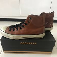 converse chuck taylor leather brown men s fashion footwear sneakers on carou