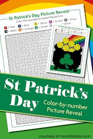 st patrick s day color by number free