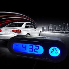 2 In 1 <b>Car</b> Kit <b>Electronic Clock Thermometer</b> LED <b>Digital</b> Display <b>Car</b> ...