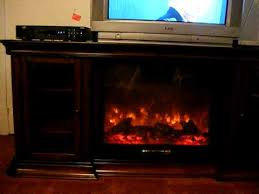 our new tv stand and fireplace