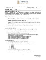 Resume Job Duties Examples Description Sample 16 Descriptions List S