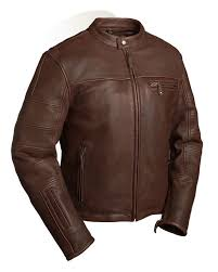 details about first leather motorcycle jacket mens brown manchester 4x on collar liner hb