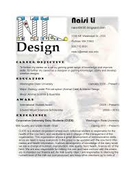 Interior Designer Resume Format Resume Template Ideas