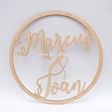 Wedding Name Us 10 39 20 Off Personalized Wedding Laser Cut Name Wooden Decor Reception Decor Wedding Sign Hoop Photo Prop Wall Sign In Party Backdrops From Home
