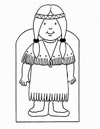 Pilgrim Girl Coloring Page Coloring Pages
