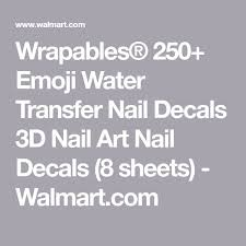 wrapables 250 emoji water transfer nail decals 3d nail art nail decals 8 sheets in 2018 emoji what emoji 3d nail art and nail decals