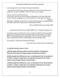 DBQ Essay Explanation Peer Grading Exercise
