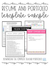 Sample Resume Portfolio Freebie Sample Resume And Portfolio Pages By The Never