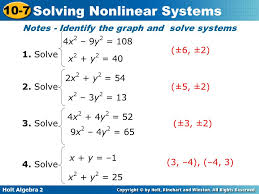 notes identify the graph and solve systems