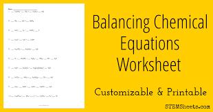 balancing chemical equations worksheet stem sheets endearing introduction