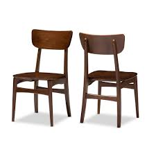 contemporary scandinavian furniture. Baxton Studio Netherlands Mid Century Modern Scandinavian Dark Wood Dining Room Chairs Contemporary Furniture S