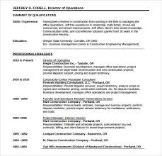 Construction Resume Templates Classy Free Construction Resume Templates Complete Guide Example