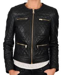 black quilted motorcycle jacket