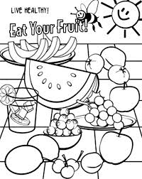 Small Picture Best Healthy Foods Coloring Pages Contemporary Coloring Page