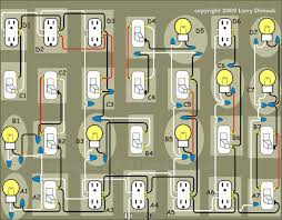 house wiring diagram of a typical circuit