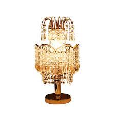Kristall Anhänger Tischlampe Kronenform Luxuriös Netzschalter