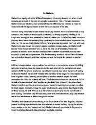 critical analysis of macbeth essays  analysis of macbeth essays and papers 123helpme com