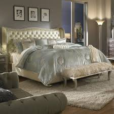 Amazon.com: Hollywood Swank Eastern King Pearl Leather Bed By Aico ...