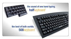Matias Half <b>Keyboard</b> & Half-QWERTY 508 <b>Keyboard</b>