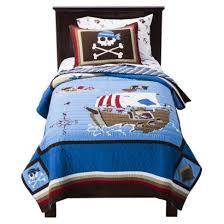 Amazon.com: Circo 100% Cotton Pirate Quilt plus Sham Full/Queen ... & Circo 100% Cotton Pirate Quilt plus Sham Full/Queen Size Adamdwight.com