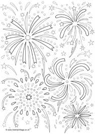 Small Picture Fireworks Colouring Pages
