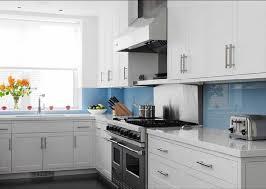 kitchen blue glass backsplash. Colorful Backsplash To Go With White Cabinets | Posted By Nick Lovelady At  4:28 AM Kitchen Blue Glass C