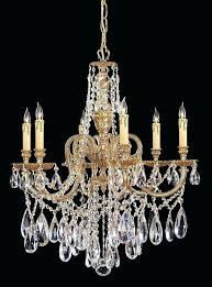 6 lights brass crystal chandelier and small 5